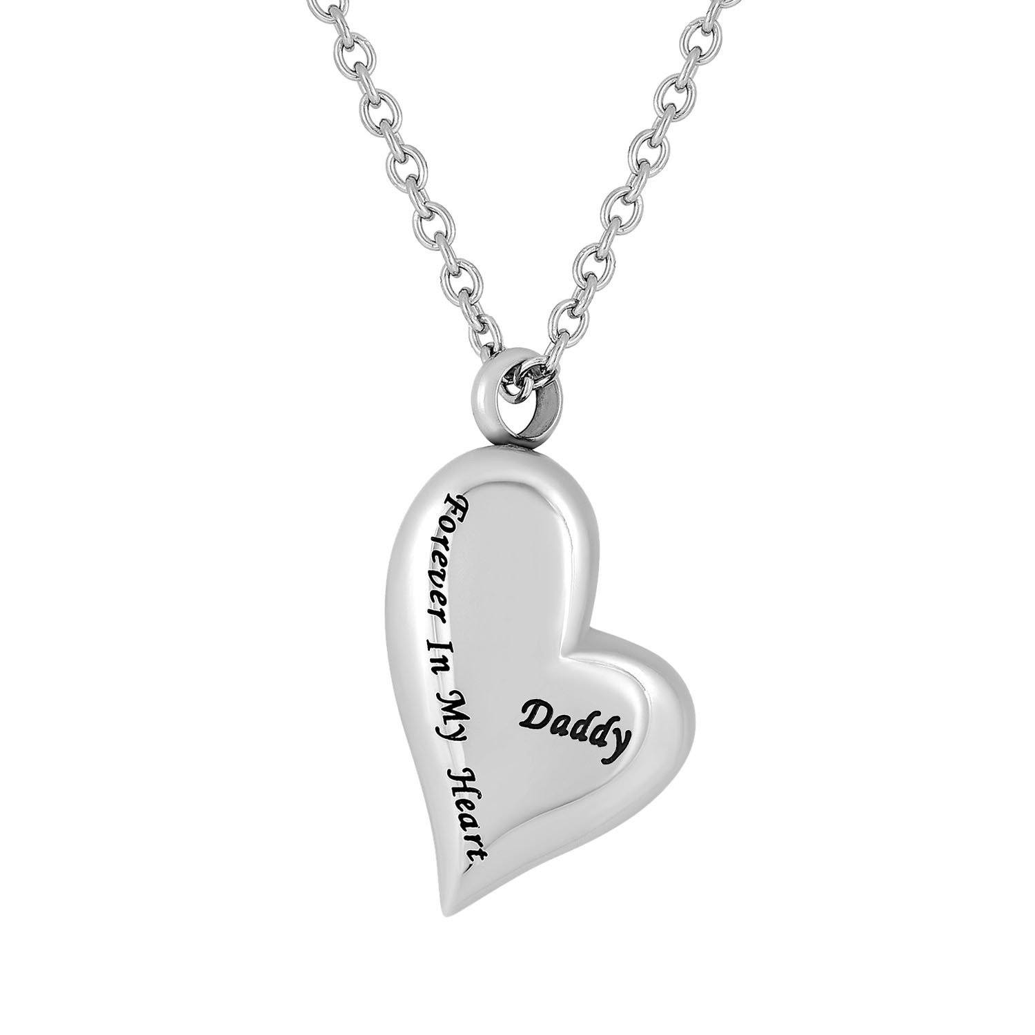 Cremation Jewelry Necklace for Ashes - Daddy Forever In My Heart
