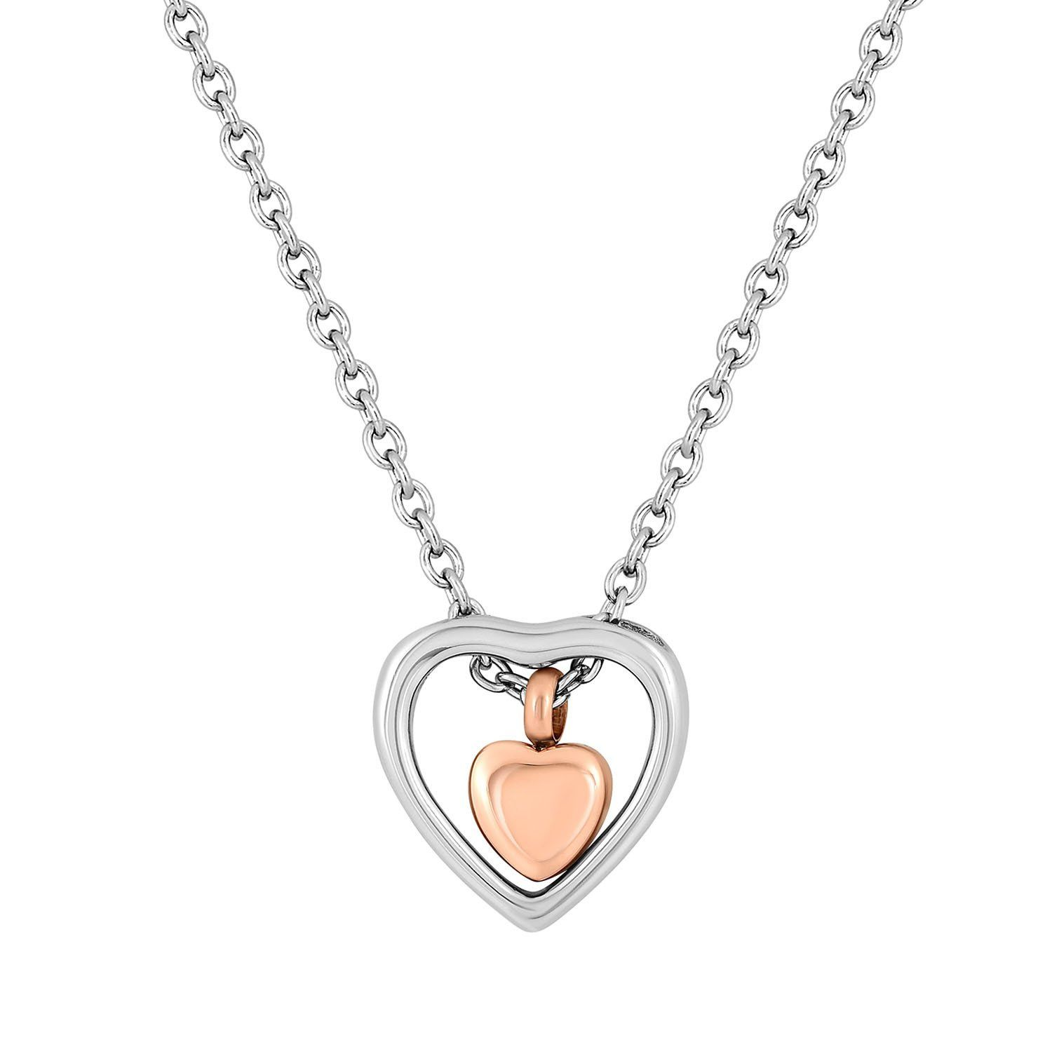 Cremation Jewelry Necklace for Ashes - Double Hearts