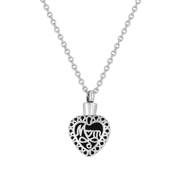 Cremation Jewelry Necklace for Ashes - Mom Heart