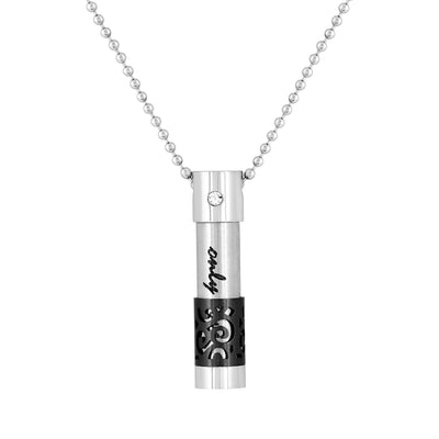 Cremation Jewelry Necklace for Ashes - Only Love Black