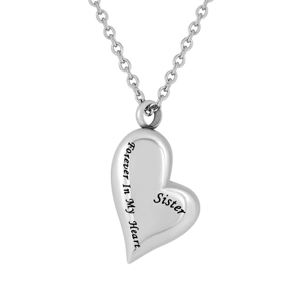 Cremation Jewelry Necklace for Ashes - Sister Forever In My Heart