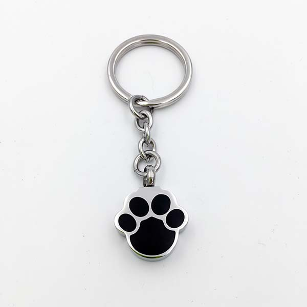 Pet Paw Cremation Keychain for Dog or Cat