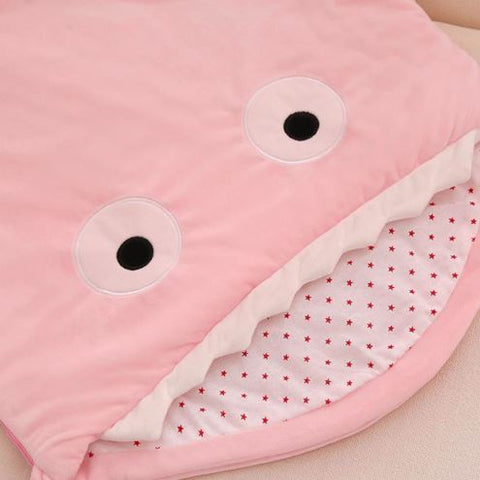 Baby Plush Shark Sleeping Bag