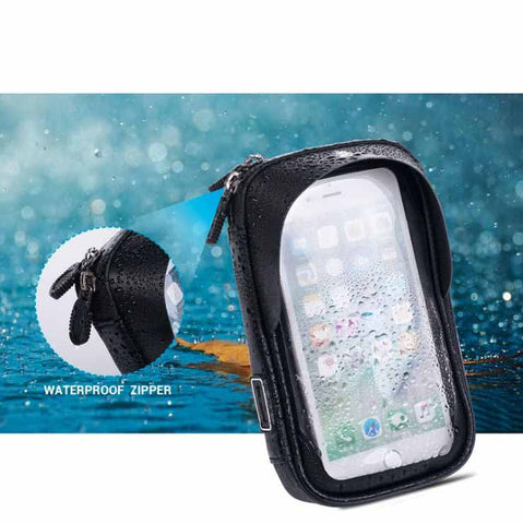 6 Inch Waterproof Bicycle Motorcycle Cell Phone Mount Bike Holder