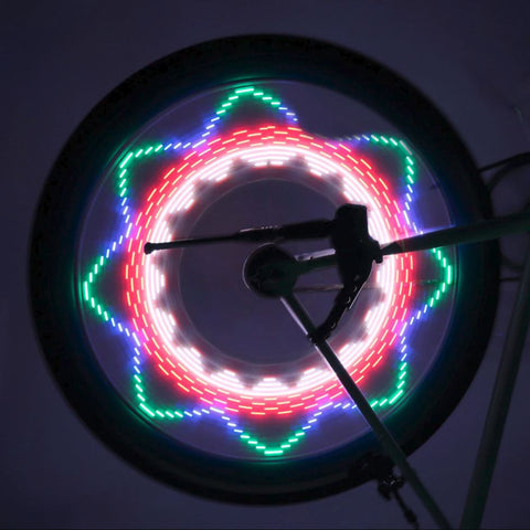 32 LED Bike Wheel Lights 2 Side Waterproof