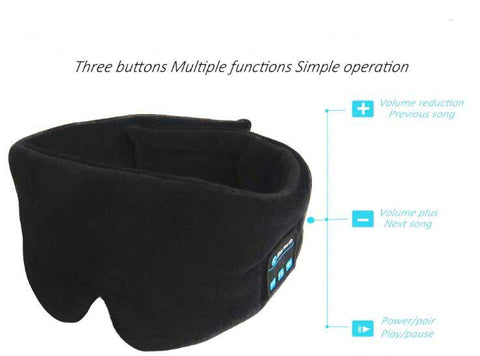 Bluetooth Sleep Mask Headphones - Wireless Sleepphones