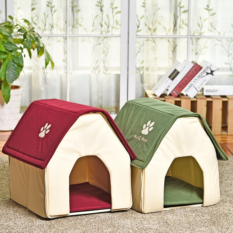 Cat House - Soft Foldable Pet Bed