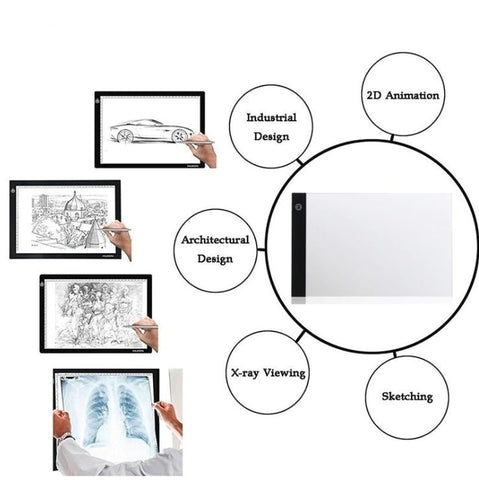 LED Digital Tracing Light Drawing Board - A4 Art Graphic Box