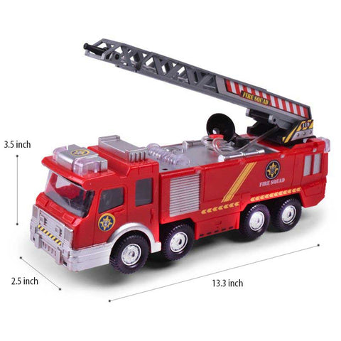 Electric Fire Truck Toy For Kids With Water Spray