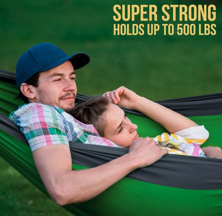 Foxelli Lightweight Portable Hammocks For Camping and Indoor Use