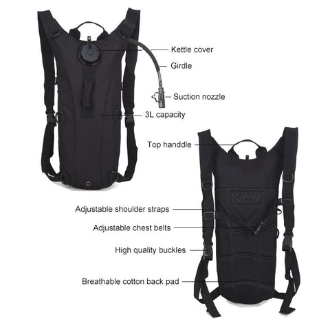 101oz Hydration Backpack Water Camelbak Bag Bladder Pack
