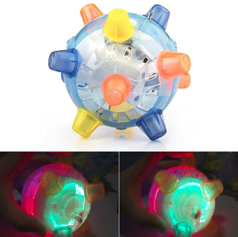 Dog Pet Jumping Activation Ball LED Toy