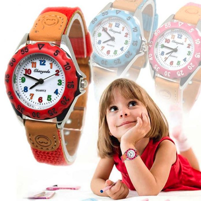 Boys Girls Kids Watch Colorful Fabric Strap