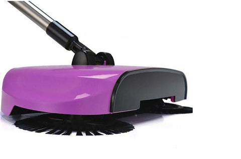 Cordless Floor Magic Broom Sweeper - Stainless Steel Hand Push Cleaner