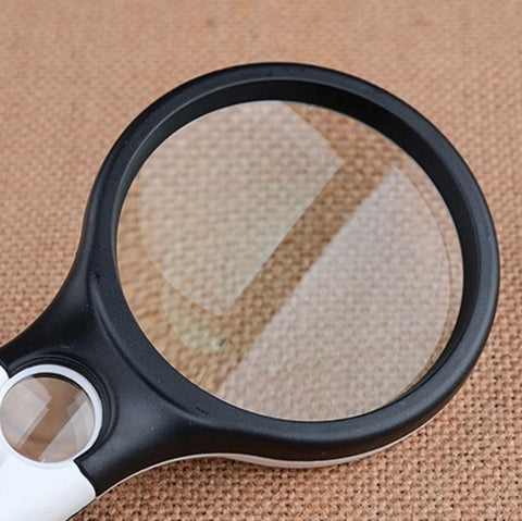 LED Pocket Magnifying Glass With Light 45X Handheld Mini Reading Jewelry Loupe