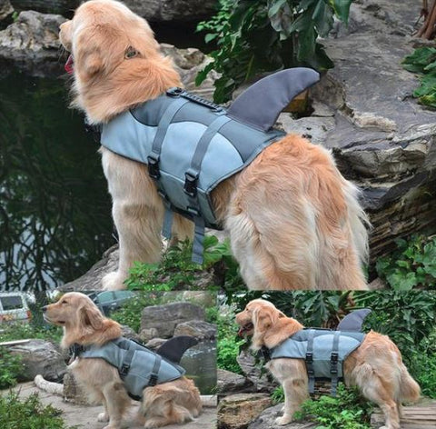 Dog Water Flotation Life Jacket - Pet Swim Shark Vest
