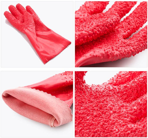 Potato Peeling Scrubbing Gloves