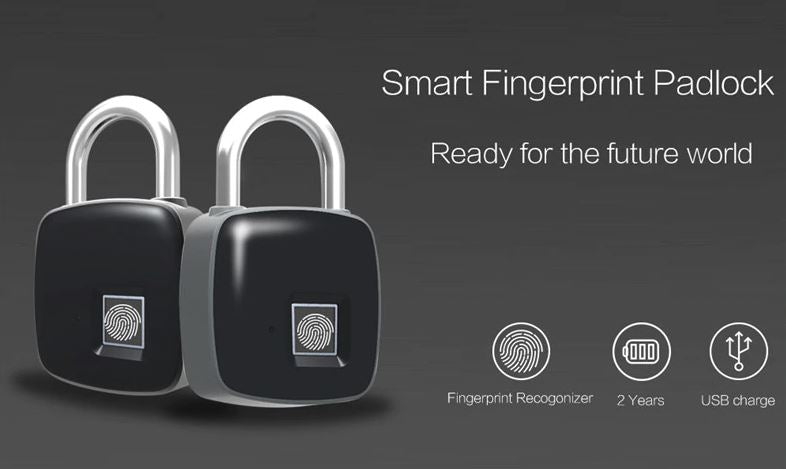 Smart Fingerprint Lock - Keyless Electronic Security Padlock