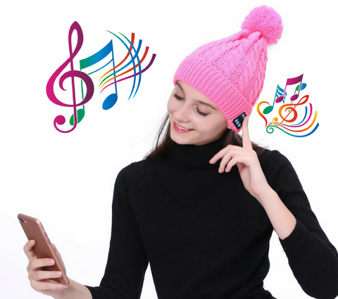Winter Bluetooth Beanie For Girls