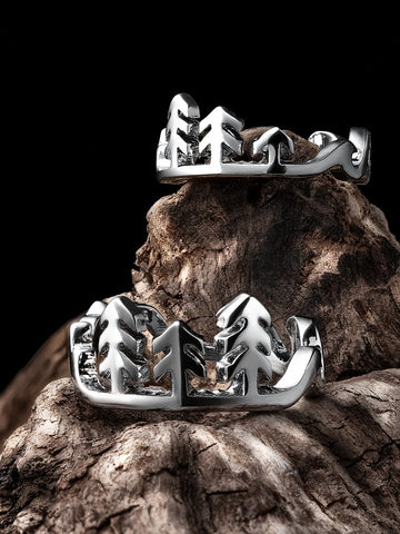 Mountains and Waves Ring