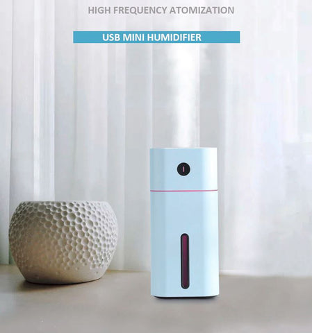 Portable USB Mini Air Humidifier - Personal Small Aroma LED Diffuser