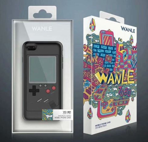 Gameboy Style Gamer Phone Case Tetris Cover For iPhone