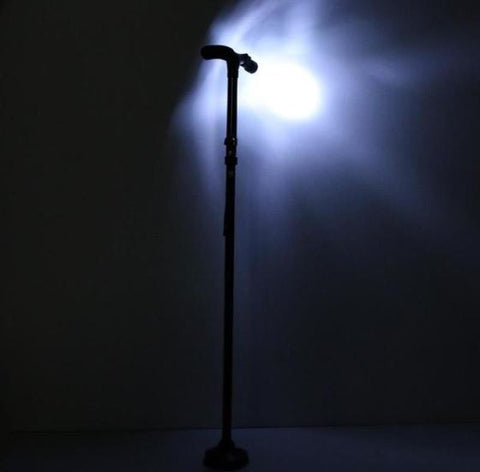 Walking Stick - Cane With LED Light - Folding - Collapsible - Aluminum