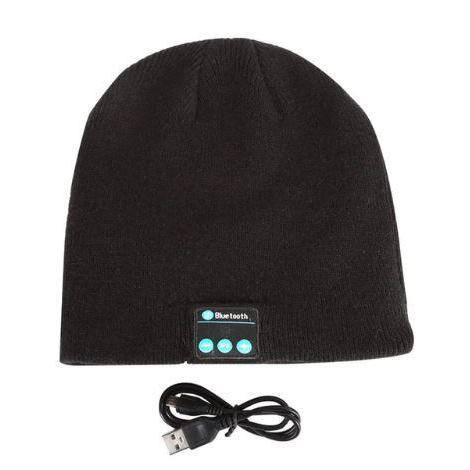 Bluetooth Beanie - Wireless Earphone Hats hat MSA Black