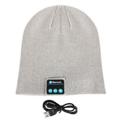 Bluetooth Beanie - Wireless Earphone Hats hat MSA Light Gray