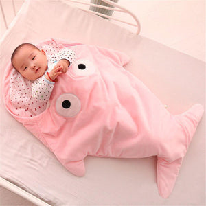 Baby Plush Shark Sleeping Bag Baby Sleeping Bag MojoTrend Pink
