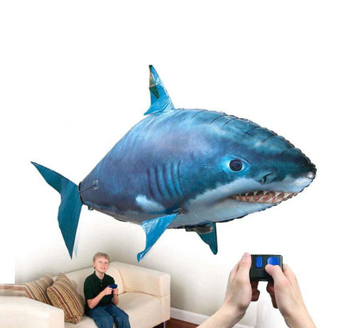 Remote Control Flying Shark Fish - RC Air Swimming Toy Balloon Remote Control Flying Fish MojoTrend Shark With Box