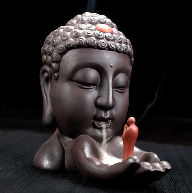 Buddha Backflow Incense Burner Ceramic Cone Holder Incense Burner MojoTrend