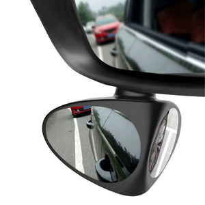 Stick On Side Blind Spot Mirror For Car - Wide Angle 360 Rotation