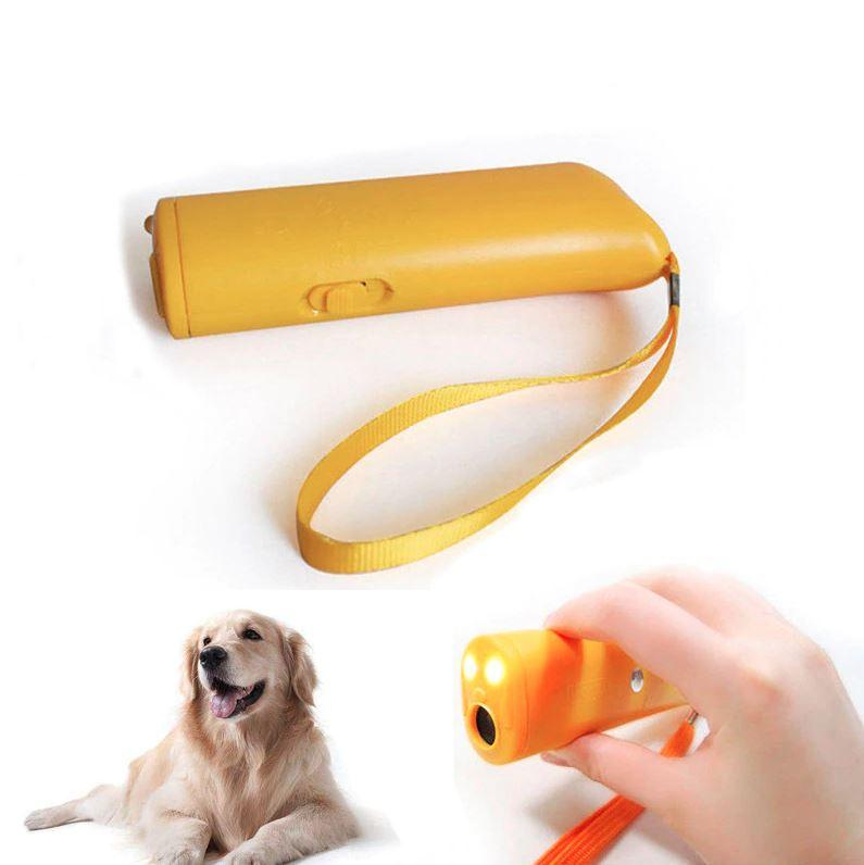 Ultrasonic Stop Dog Barking Control Device Dog Anti-Barking Device MojoTrend Yellow