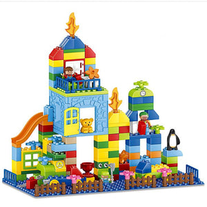 160Pcs Educational Large Building Blocks Toy for Kids - Amusement Park Set Building Blocks MojoTrend