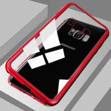 Tempered Glass Magnetic Cell Phone Case for Android iPhone Samsung Magnetic Cell Phone Case MojoTrend Transparent Red For iPhone Xs Max