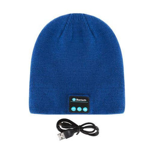 Bluetooth Beanie - Wireless Earphone Hats hat MSA Blue