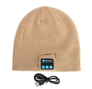 Bluetooth Beanie - Wireless Earphone Hats hat MSA Sand