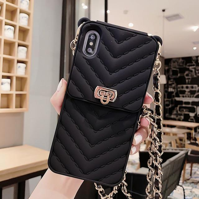 Crossbody Credit Card Wallet Phone Case For iPhone