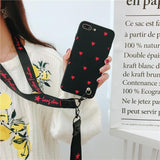 Heart Love Soft Phone Case With Strap For iPhone Phone Case MojoTrend
