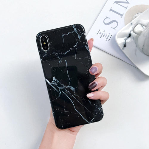 Black Marble Phone MojoTrend For iPhone 7 8 Plus