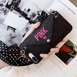 Pink Heart Wallet Phone Case