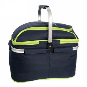Large Picnic Basket - Folding Food Storage Bag Picnic Basket Trackman
