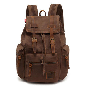 Large Vintage Canvas Backpack backpack MojoTrend Coffee