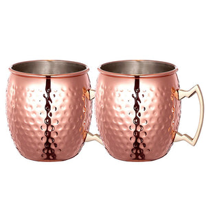 Set of 2 Copper Moscow Mule Copper Mugs Mug MojoTrend