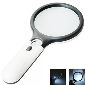 LED Pocket Magnifying Glass With Light 45X Handheld Mini Reading Jewelry Loupe Magnifying Glass MojoTrend