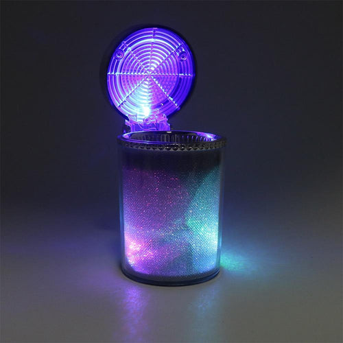 Portable LED Light Car Ashtray - Cup Holder With Lid Car Ashtray MojoTrend