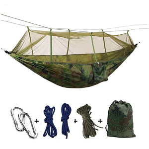 Ultralight Camping Hammock with Bug Mosquito Net 2 Person Hammock MojoTrend Cammo
