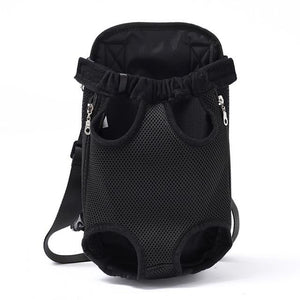 Small Pet Dog Carrier Backpack For Front Use Pet Carriers MojoTrend Black S
