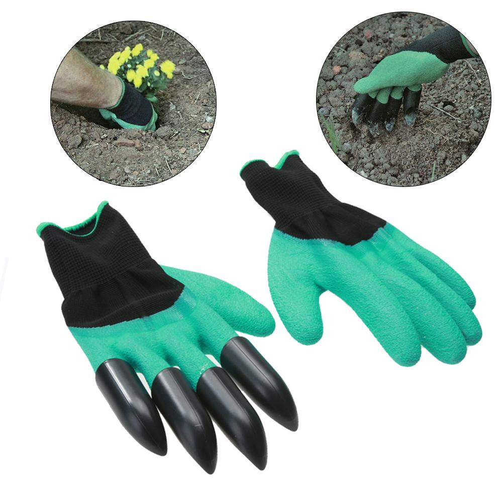 Easy Gardening Gloves With Claws Gardening Gloves MojoTrend Green